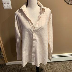 Men's collared button up dress shirt Sz 16 neck